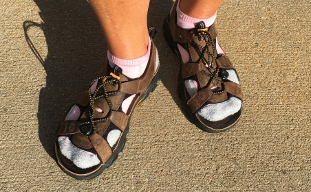 Linda's Keen fishing sandals
