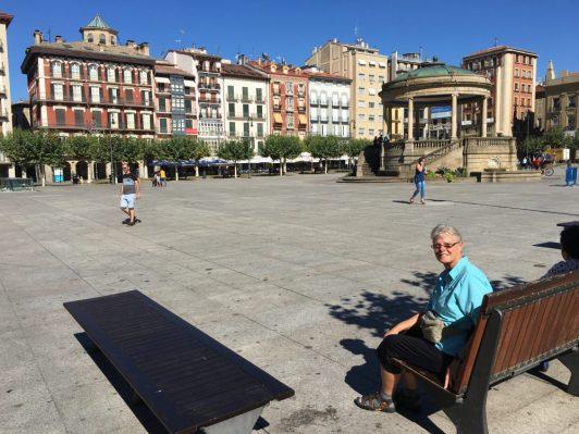 Plaza de Castillo near our hotel