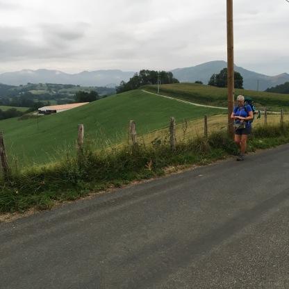 After initial climb, level roads thru local farms