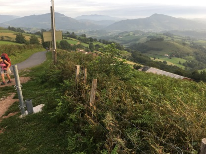 Leaving pavement into pastureland