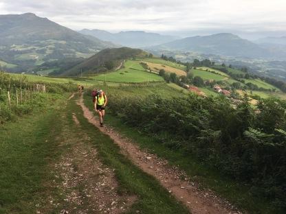Steep path with beautiful views